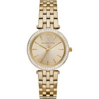 Michael Kors Women's  'Darci' Crystal-set Goldtone Stainless Steel Watch