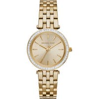 Michael Kors Women's MK3365 'Darci' Crystal-set Goldtone Stainless Steel Watch
