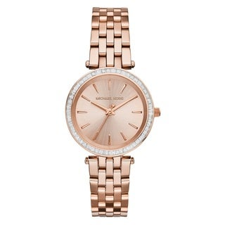 Michael Kors Women's 'Darci' Crystal-set Rose Gold Tone Stainless Steel Watch
