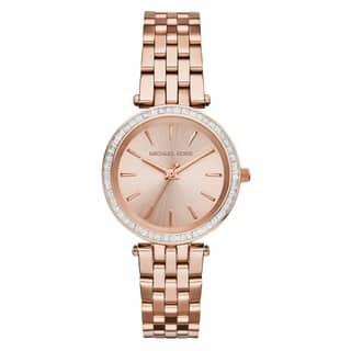 c0f262c7c8c Michael Kors Women s MK3366  Darci  Crystal-set Rose Gold Tone Stainless  Steel Watch
