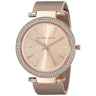 Michael Kors Women's MK3369 'Darci' Crystal-set Rose Gold Tone Stainless Steel Watch