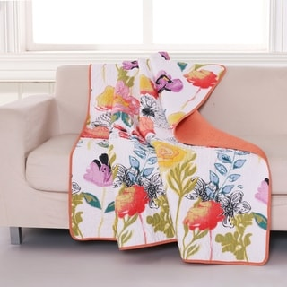 Link to Greenland Home Fashions Watercolor Dream Quilted Cotton Throw Similar Items in Blankets & Throws