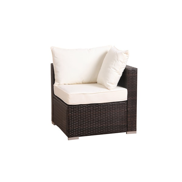 Patio Chair Set Part - 38: BroyerK 6 Piece Outdoor Rattan Patio Furniture Set - Free Shipping Today -  Overstock.com - 16928086