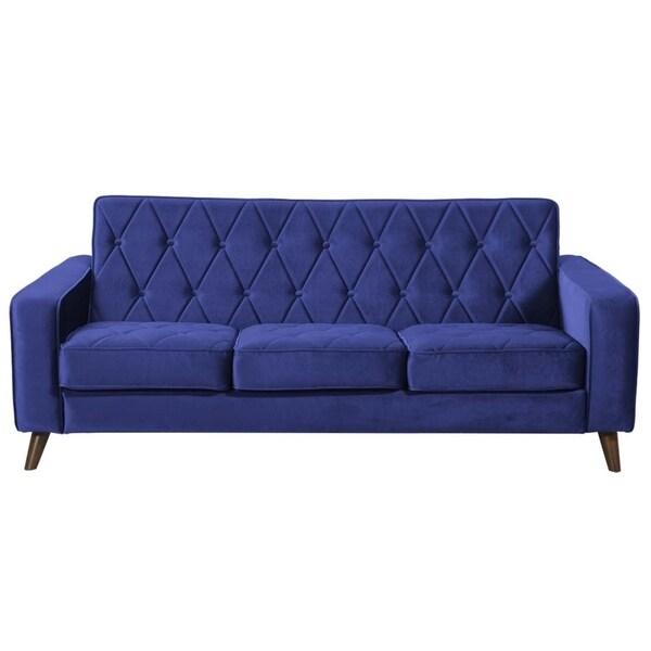 Bowery Navy Velvet Sofa