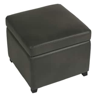 Cortesi Home Massimo Grey Bonded Leather Storage Ottoman with Hinged Top|https://ak1.ostkcdn.com/images/products/9756077/P16928100.jpg?impolicy=medium