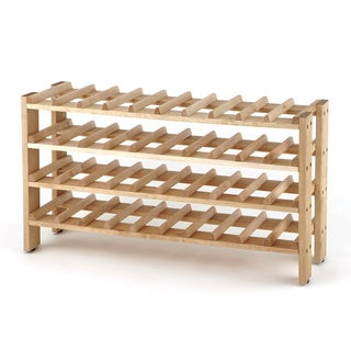Seville Classics 40-Bottle Birchwood Wine Rack