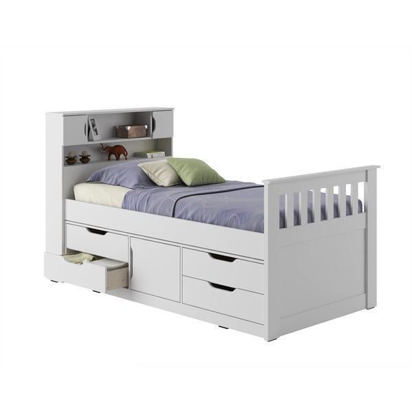 CorLiving Madison Twin/ Single Captain's Bed - Free Shipping Today ...