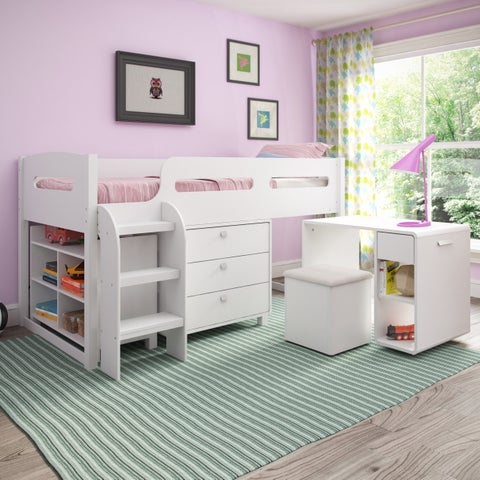 CorLiving Madison 5-piece All-in-One Twin Loft Bed
