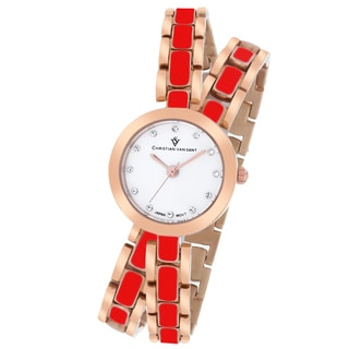 Christian Van Sant Women's CV5614 Spiral Round Two-Tone Bracelet Watch