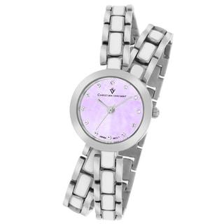 Christian Van Sant Women's CV5611 Spiral Round Two-Tone Bracelet Watch