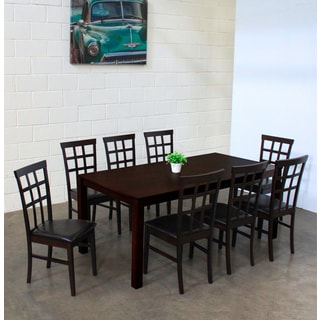 Warehouse of Tiffany Justin Dark Brown 9-piece Dining Set