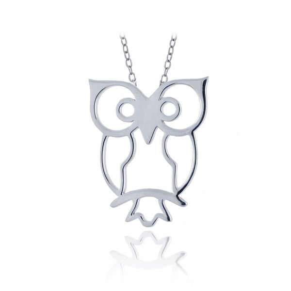 Mondevio Sterling Silver Owl Necklace
