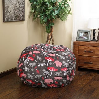 Christopher Knight Home Riley Faux Suede 3-foot Jungle Tales Lounge Beanbag Chair