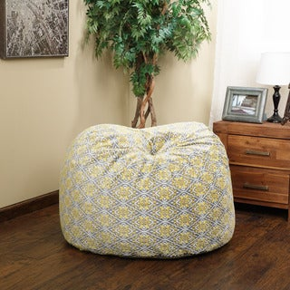 Christopher Knight Home Riley Faux Suede Valencia Limon 3-foot Ikat Lounge Beanbag Chair