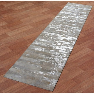 White Leather Hair-On Hide Matador Runner (2.5'x12')