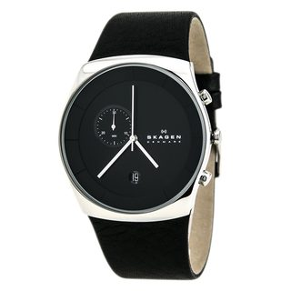skagen men s watches shop the best deals for 2017 skagen men s skw6070 havene chronograph leather watch
