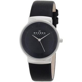Skagen Women's SKW2059 Black Leather Watch