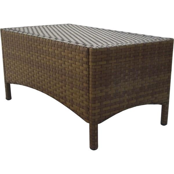 Panama Jack St. Barths Wicker Rectangular Coffee Table