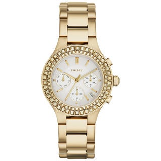 DKNY Women's NY2259 'Chambers' Chronograph Crystal Gold Tone Stainless Steel Watch