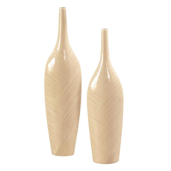 Cream Glaze Ceramic Vases (Set of 2)