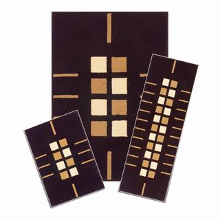 Capri SoHo Black 3-piece Rug Set