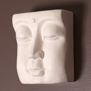 Abstract Face Ceramic Wall Vase