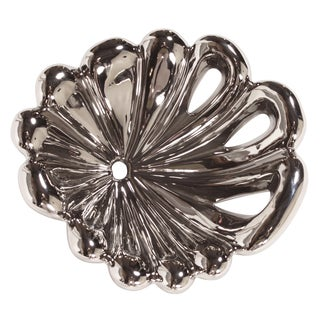 Nickel Plated Decorative Floral Bowl