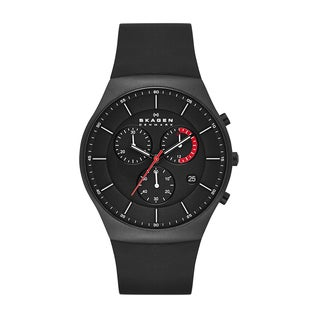 Skagen Men's SKW6075 Silicone Titanium Chronograph Watch