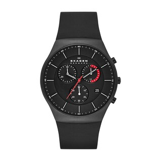 Skagen Men's Silicone Titanium Chronograph Watch