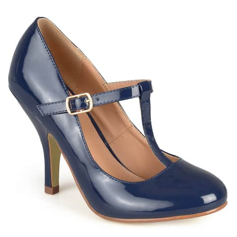Journee Collection Womens Cabrie Patent T-strap Pumps