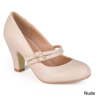 Journee Collection 'Peter' Classic Matte Finish Mary Jane Pumps (5 options available)