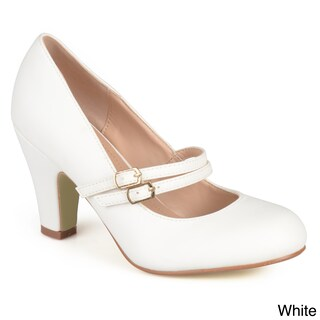 Journee Collection 'Peter' Classic Matte Finish Mary Jane Pumps (More options available)