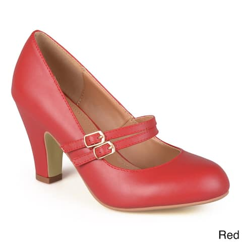 0de603af3b2c Journee Collection  Peter  Classic Matte Finish Mary Jane Pumps