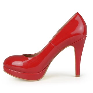 Journee Collection Women's 'Maddy' Patent Platform Pumps