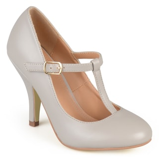 Journee Collection Women's 'Michelle' Matte Finish T-strap Pumps