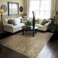 Heritage Faded Traditional Beige/ Grey Rug (3'10 X 5'5)