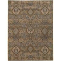 "Heritage Floral Ikat Ivory/ Blue Rug (6'7 X 9'6) - 6'7"" x 9'6"""