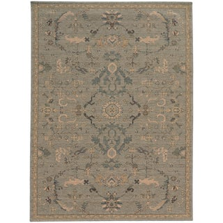 Heritage Faded Persian Blue/ Beige Rug - 6'7 X 9'6
