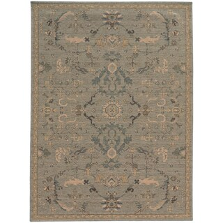 Heritage Faded Persian Blue/ Beige Rug (7'10 X 10'10)