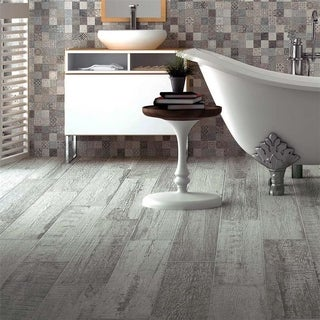 SomerTile 8x26-inch Origine Gris Porcelain Floor and Wall Tile (Case of 9)