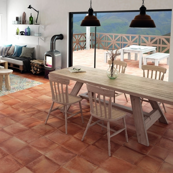 Shop Somertile 13x13 Inch Rustique Cotto Porcelain Floor And Wall