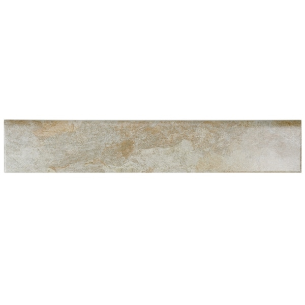 Shop SomerTile Xinch Ariana Ocre Porcelain Bullnose Floor - 6 inch bullnose tile