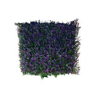 Indoor/Outdoor Lavender Artificial Foliage Wall Panels (Set of 4)