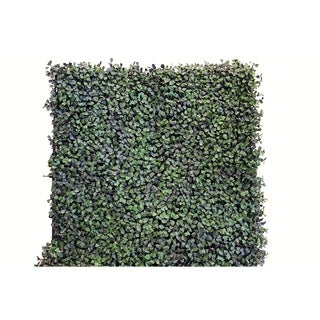 Greensmart Decor Artificial Dollar Leaf Foliage Wall Panels (Set of 4)