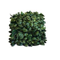 Indoor/Outdoor Lime Leaf ArtificialFoliage Wall Panels (Set of 4) - Green