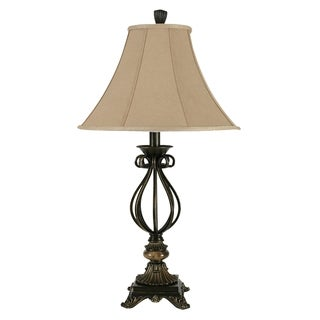 Antique Inspired Iron with Poly Table Lamp