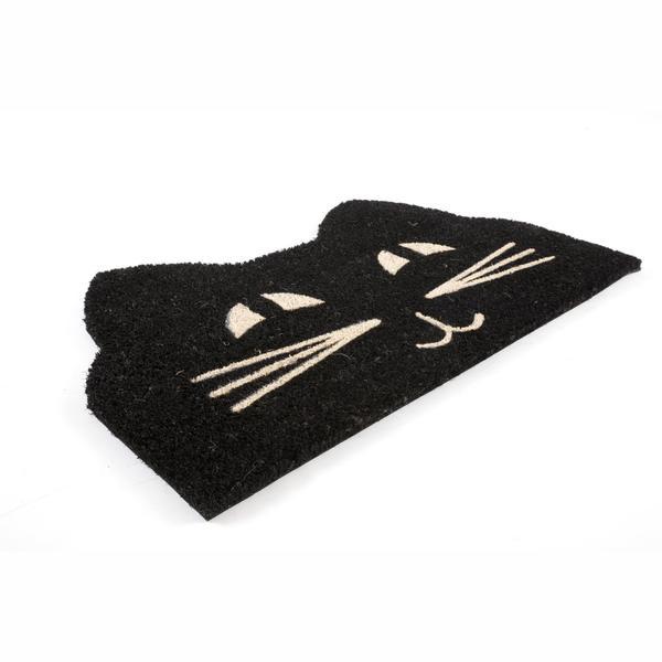 "cat face non-slip coir doormat (17"" x 28"") - free shipping on"