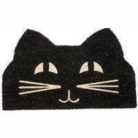 "Cat Face Non-slip Coir Doormat (17"" x 28"")"