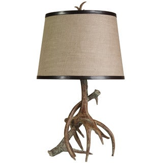 Pine Canopy Arches Poly Resin Antler Table Lamp