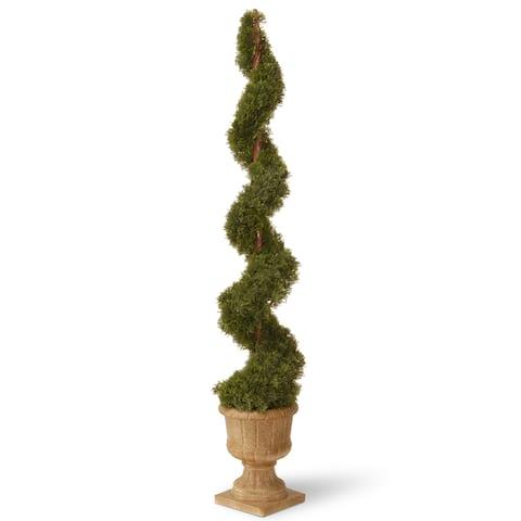 60-inch Cedar Spiral in Urn